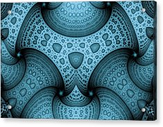 Interlocking Patterns Acrylic Print by Mark Eggleston