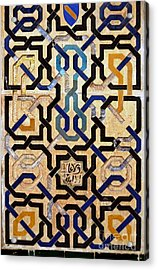 Interlocking Tiles In The Alhambra Acrylic Print