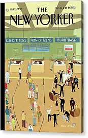 International Arrivals Acrylic Print by Bruce McCall