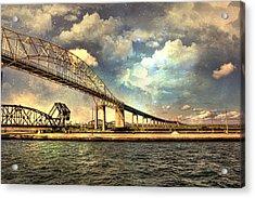 International Bridge Sault Ste Marie Acrylic Print