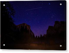 International Space Station Over Yosemite National Park Acrylic Print by Scott McGuire