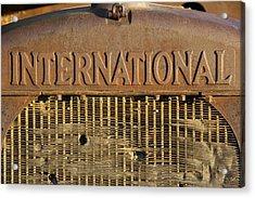 International Truck Emblem Acrylic Print by Mike McGlothlen
