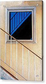Intersection Of Real And Reflection  Acrylic Print by Gary Slawsky