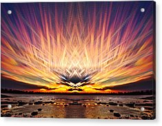 Intersections In The Sky Acrylic Print by Matt Molloy