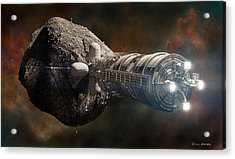 Acrylic Print featuring the digital art Interstellar Colony Maker by Bryan Versteeg