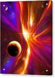 Intersteller Supernova Acrylic Print by James Christopher Hill