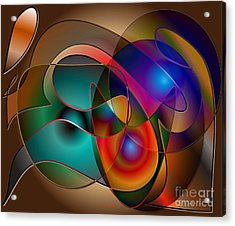 Acrylic Print featuring the digital art Intertwined by Iris Gelbart