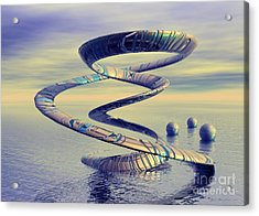 Into Life - Surrealism Acrylic Print by Sipo Liimatainen