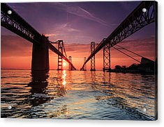 Into Sunrise - Bay Bridge Acrylic Print