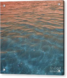 Into The Blue At Sunset Acrylic Print by Cindy Lee Longhini