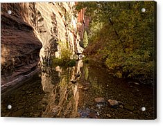 Into The Canyon  Acrylic Print by Saija  Lehtonen