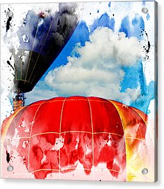Into The Clouds Acrylic Print by Ken Evans