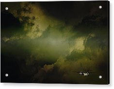 Into The Clouds Acrylic Print by Paul Job