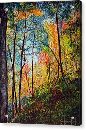 Into The Forest Acrylic Print by Ron Richard Baviello