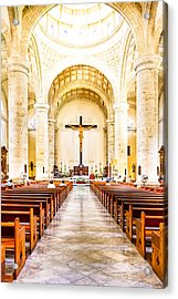 Into The Light At Merida Cathedral Acrylic Print