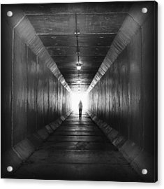 Into The Light...tunnel Acrylic Print