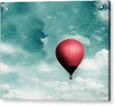 Into The Night Acrylic Print by Amy Tyler
