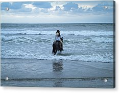 Into The Ocean Acrylic Print by Lana Enderle