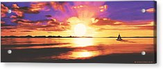 Into The Sunset Acrylic Print
