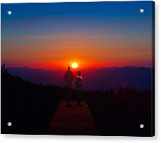 Into The Sunset Together Acrylic Print by John Haldane