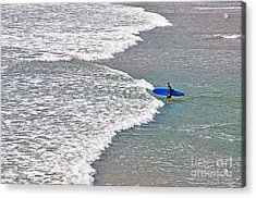 Into The Surf Acrylic Print by Susan Wiedmann