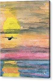 To The Unknown - Pby Catalina On Patrol Acrylic Print