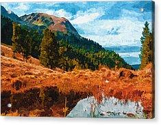 Into The Woods Acrylic Print by Ayse Deniz