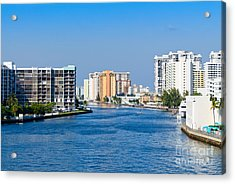 Intracoastal Waterway In Hollywood Florida Acrylic Print