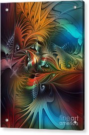Intricate Life Paths-abstract Art Acrylic Print by Karin Kuhlmann