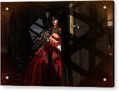 Acrylic Print featuring the digital art Intrigue by Kylie Sabra