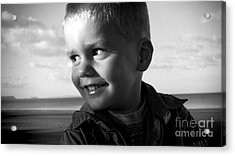 Introducing Max Acrylic Print by Karen Lewis