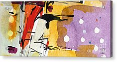 Intuitive Abstract Venice Watercolor And Ink Acrylic Print