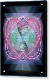 Intwined Hearts Chalice Enveloping Orbs Vortex Fired Acrylic Print by Christopher Pringer