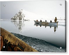 Inuit Sea Hunters Acrylic Print by Science Photo Library
