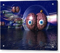 Acrylic Print featuring the digital art Invasion by Jacqueline Lloyd