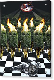 Invasion Of The Alien Bushes Acrylic Print by Larry Butterworth