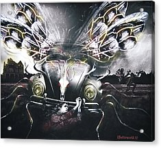 Invasion Of The Mutant Beetles Acrylic Print by Larry Butterworth
