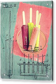 Invention Of The Ice Pop Acrylic Print by Edward Fielding