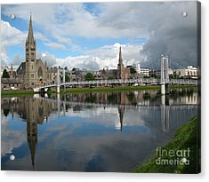 Acrylic Print featuring the photograph Inverness Riverscape by Jacqi Elmslie