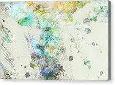 Inversion Abstract Art Acrylic Print by Ann Powell