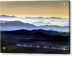 Inversion Layers In The Atacama Desert Acrylic Print by Babak Tafreshi
