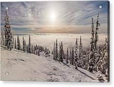 Inversion Sunset Acrylic Print by Aaron Aldrich