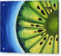 Inverted Kiwi Acrylic Print by Alexandra Kushman