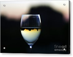Inverted Landscape In Wine Glass Acrylic Print