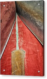 Acrylic Print featuring the photograph Inverted-stacked Canoes by Gary Slawsky