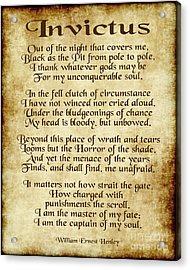 Invictus - Old Parchment Design Acrylic Print