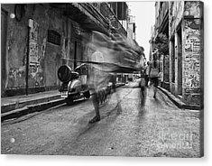 Invisible Rickshaw Puller Acrylic Print by Soumya Shankar Ghosal