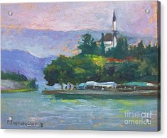Ioannina Lake Acrylic Print by George Siaba