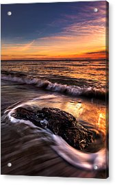 Iona Beach Acrylic Print by Alexis Birkill