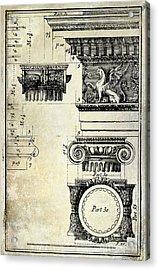 Ionic Capitol Acrylic Print